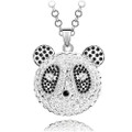 Panda Crystal Pendant, Women Sweater Necklace FREE  Chain