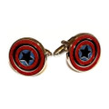 Captain America Stainless Steel Cuff Links