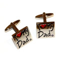 'I Love My Dad' Stainless Steel Cuff Links