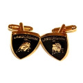Black and Gold Lamborghini Stainless Steel Cuff Links
