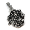 Circus Stainless Steel Skull Pendant Necklace, 600MM Chain