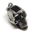 Large Jewelled 316L Stainless Steel Skull Pendant Necklace, 600MM Chain