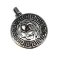 Stainless Steel Grecian Rose Pendant Necklace, 600MM Chain