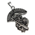 Stainless Steel Sons of Anarchy Pendant Necklace, 600MM Chain