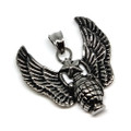 Stainless Steel Winged Grenade Pendant Necklace, 600MM Chain