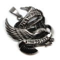 Stainless Steel 'Live to Ride, Ride to Live' Eagle Pendant Necklace, 600MM Chain