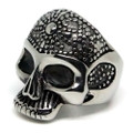 Dotted Skull Stainless Steel Ring