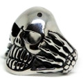 Grinning Skeleton Stainless Steel Ring
