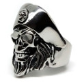 Blackbeard's Skull Stainless Steel Pirate Ring