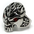 Demonic Flame Skull Stainless Steel Ring