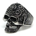 Steampunk Gears Skull Stainless Steel Ring