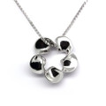 925 Sterling Silver Flower Pendant Necklace,  Free Chain