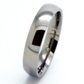Titanium Ring, Wedding Band, Classic Polished Domed, 6MM