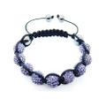 Brilliant Aqua Beads Unisex Shamballa Bracelet with Hematite Beads