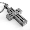 Stainless Steel Mens Cross Pendant with FREE Chain