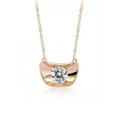Sophisticated Pendant Necklace for Women with Large Crystal Accent