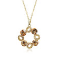Amazing Circle Necklace w/Clear and Gold Crystal Accents
