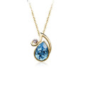 Gorgeous Teardrop Pendant Necklace for Women with Crystal Accents