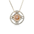 Beautiful Circle Pendant Necklace for Women with Crystal Accents