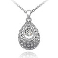 Crystal TearDrop, Clear Round Stone, Fashion Women Necklace FREE  Chain
