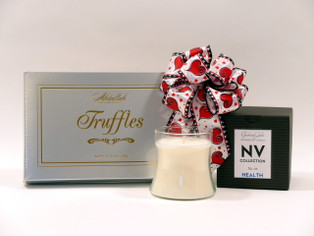 Elegant truffles and candle gift set