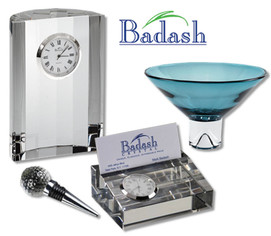 Fine crystal giftware from Badash Crystal makes a beautiful and memorable corporate crystal gift.