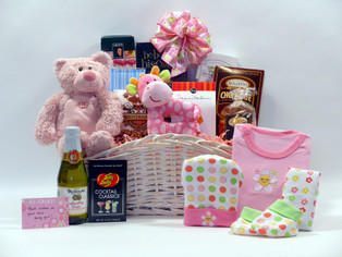 Welcome to the World Baby Gift Basket is filled with specialty treats for the whole family!