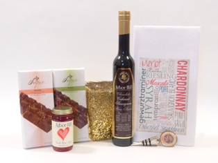 Create a unique gift collection featuring Arbor Hill Cabernet Sauvignon wine sauce and Rose wine jelly.