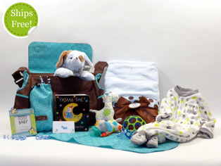 Polka Dot Precious Baby Boy Diaper Bag Gift Set qualifies for free shipping!