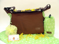 Jimeale diaper bag features adjustable strap with many interior and exterior pockets
