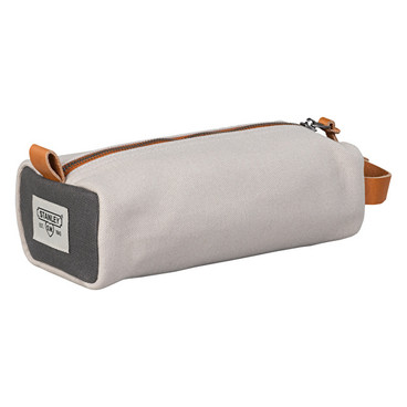 Mini dopp kit in canvas and leather
