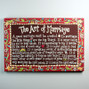 "The Art of Marriage is a beautiful statement crafted on a 3x2"" solid magnet."