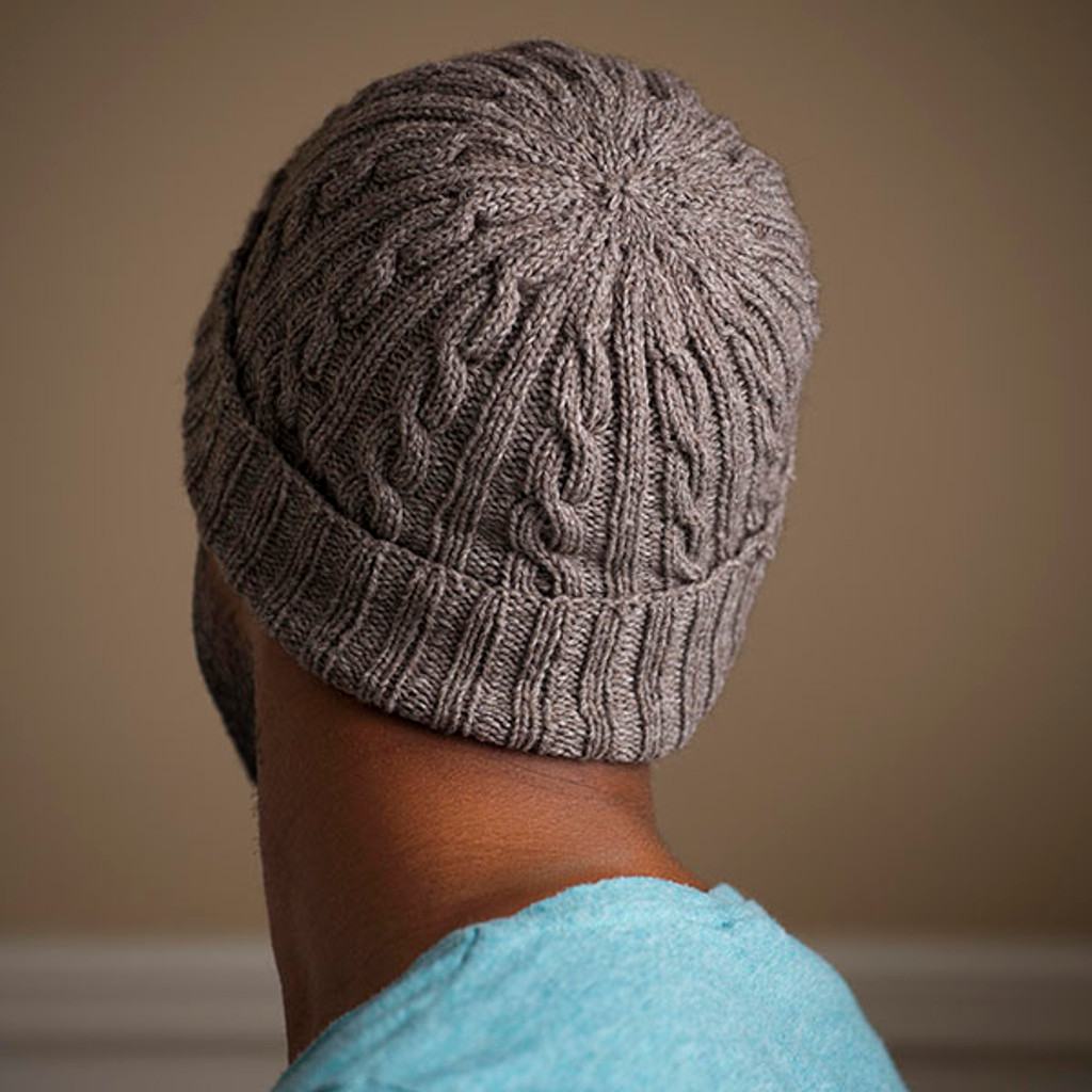 Knitting Pattern Guy : Man-Approved Cabled Hat Pattern - Expression Fiber Arts, Inc.