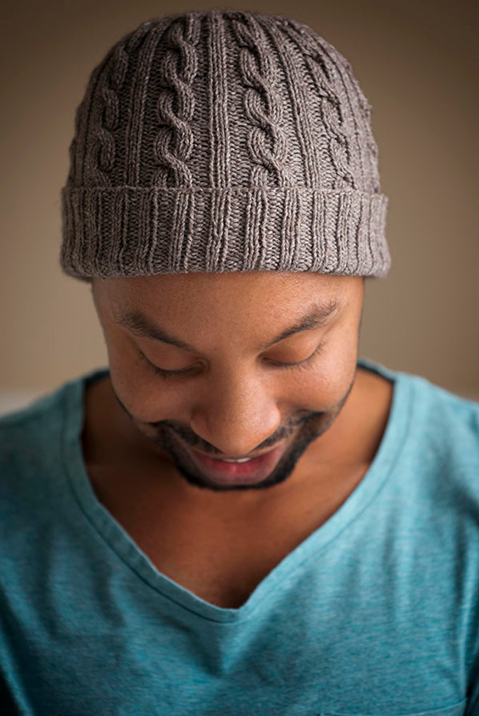 Knitting Pattern Mens Hat : Man-Approved Cabled Hat Pattern - Expression Fiber Arts, Inc.