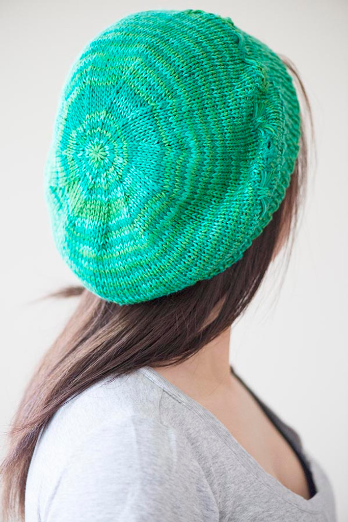 Free Band of Butterflies Knitted Beret Pattern - Expression Fiber Arts, Inc.