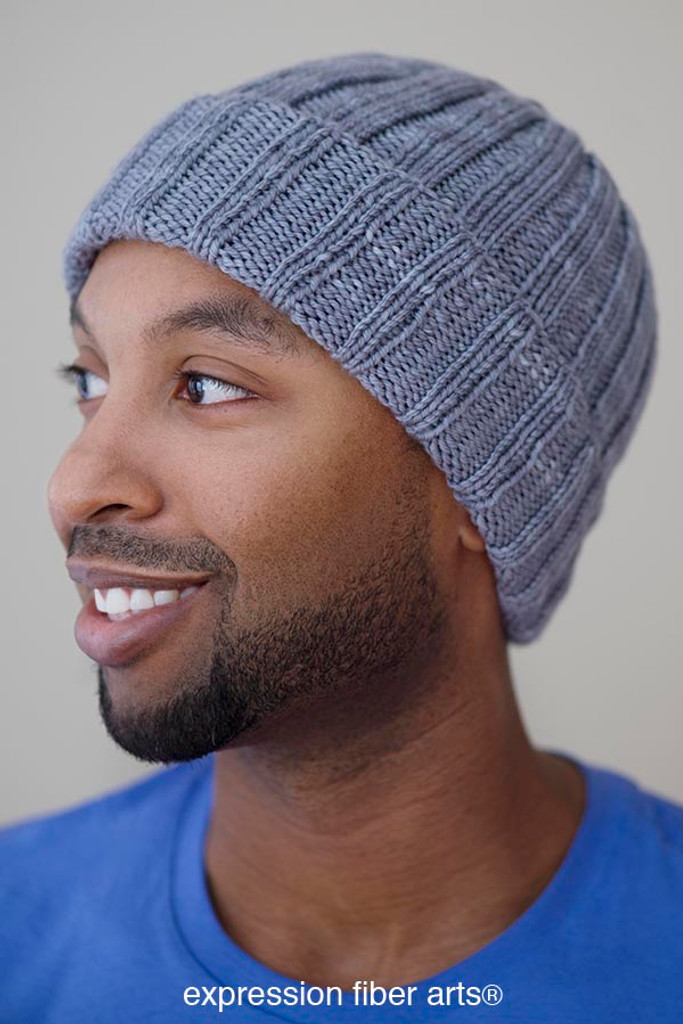 Free Knit Beanie Pattern : Free Knitted Boyfriend Beanie Hat Pattern - Expression Fiber Arts, Inc.