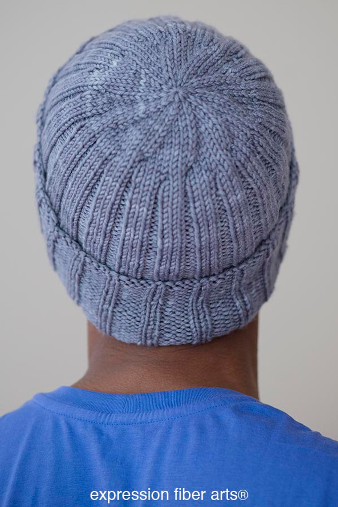 Free Knitting Patterns For Hats In The Round : Free Knitted Boyfriend Beanie Hat Pattern - Expression Fiber Arts, Inc.