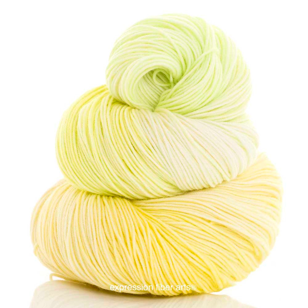 LEMON LIME 'RESILIENT' SUPERWASH MERINO SOCK
