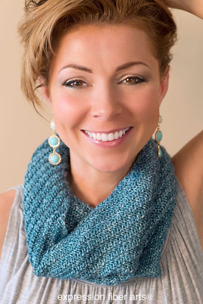 Free Knitting Patterns Dk Cowl : Free Swirling Sea Knitted Cowl Pattern - Expression Fiber Arts, Inc.