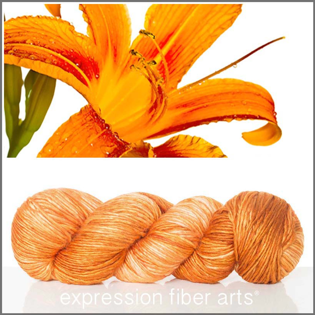 TIGER LILY SUPERWASH MERINO SILK PEARLESCENT WORSTED