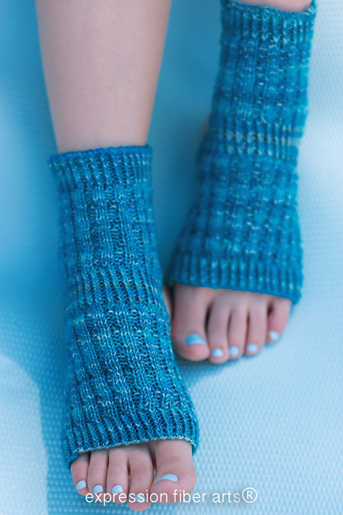 Knitting Patterns For Yoga : Asana Knitted Yoga Sock Pattern - Expression Fiber Arts, Inc.