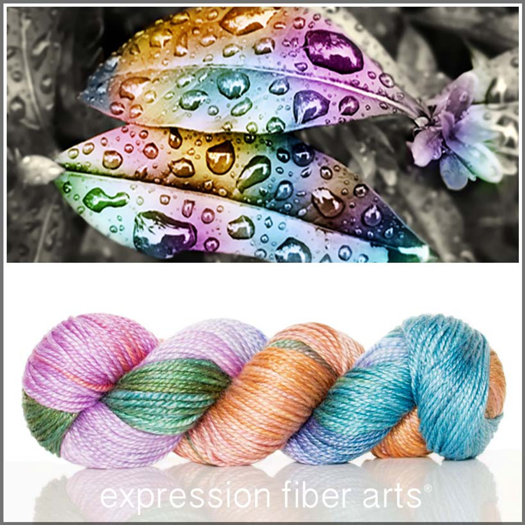 COLORS OF CHANGE 'LUSTER' SUPERWASH MERINO TENCEL WORSTED