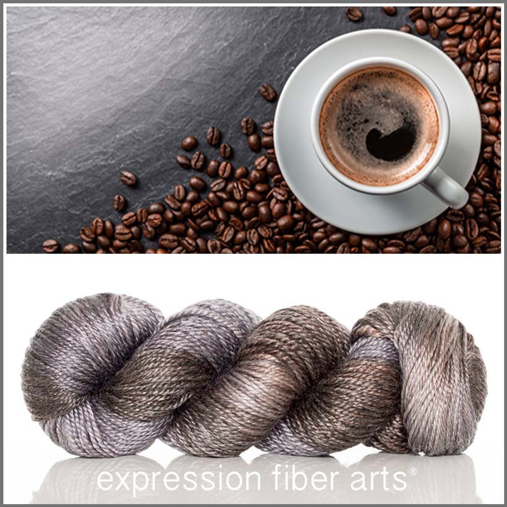 DARK ROAST 'LUSTER' SUPERWASH MERINO TENCEL WORSTED