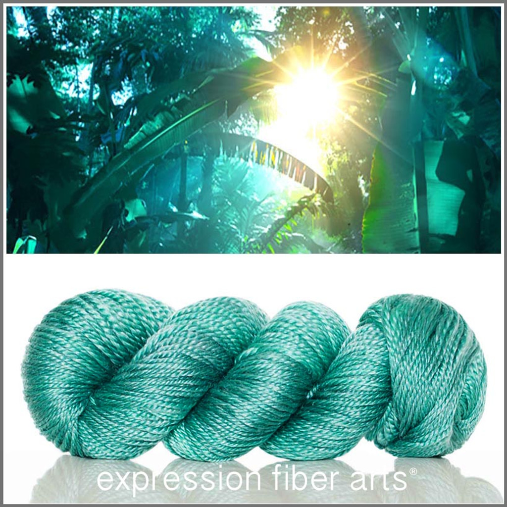 JUNGLE 'LUSTER' SUPERWASH MERINO TENCEL WORSTED