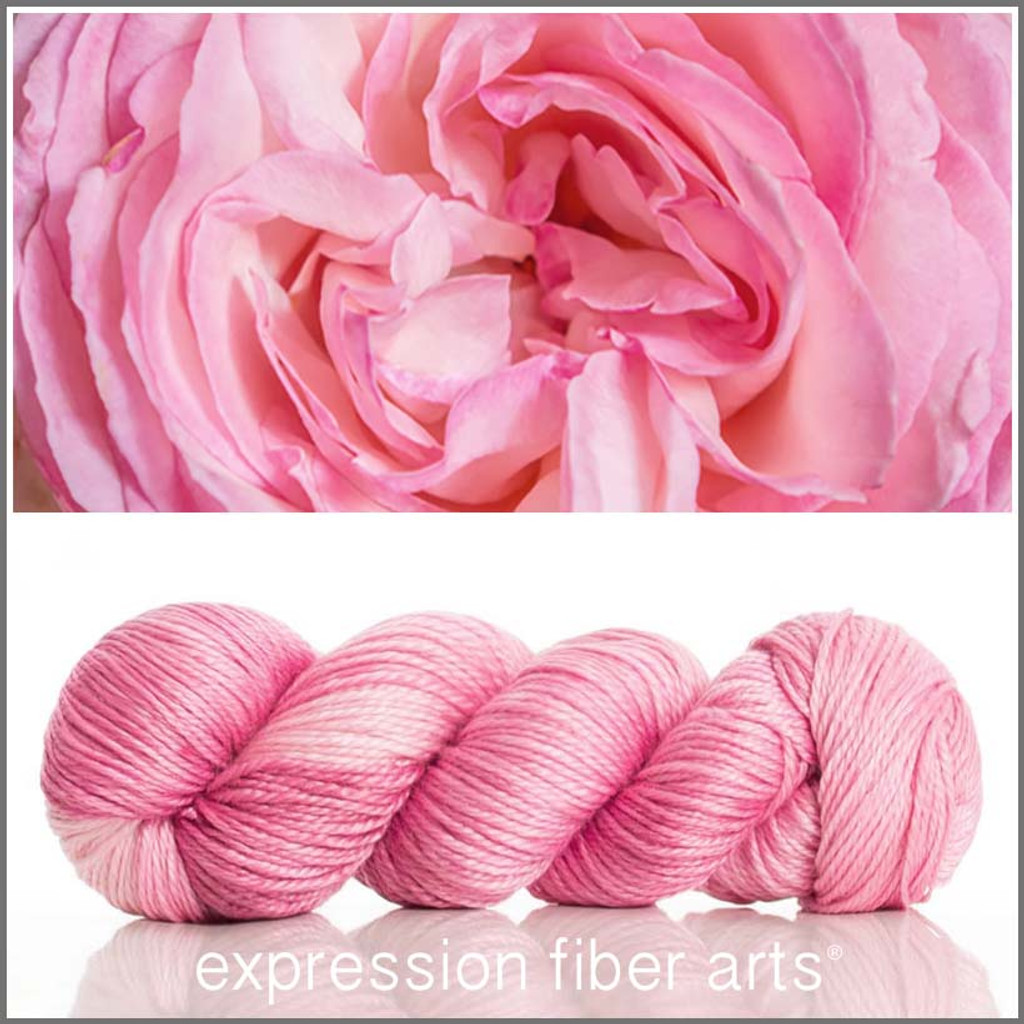 CABBAGE ROSE 'LUSTER' SUPERWASH MERINO TENCEL WORSTED