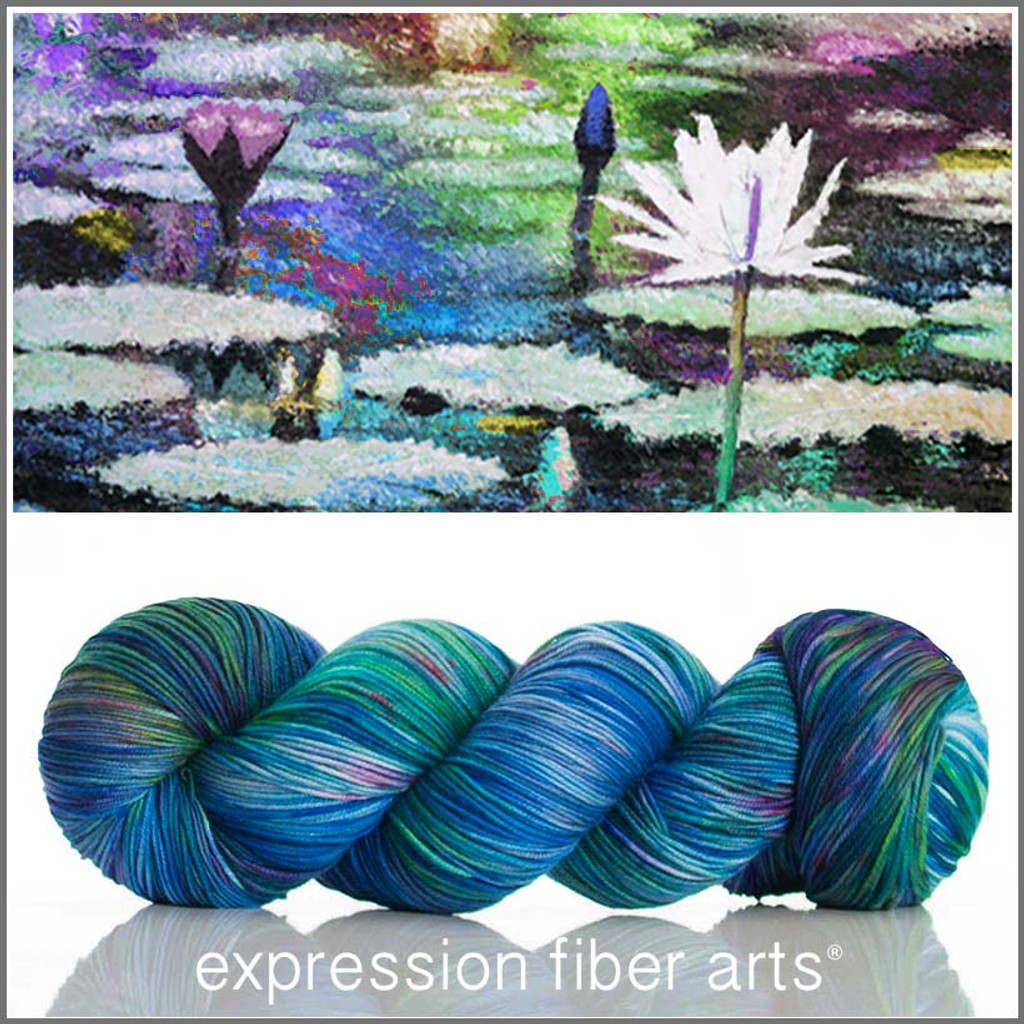 WATER LILIES 'RESILIENT' SUPERWASH MERINO SOCK