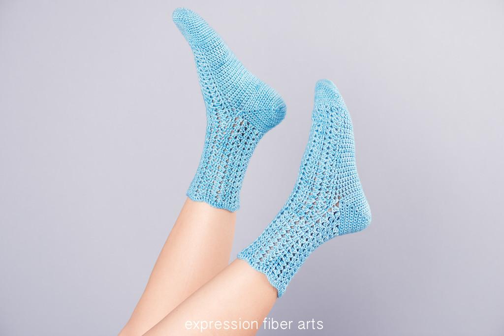 Flights of Fancy Crochet Sock Pattern