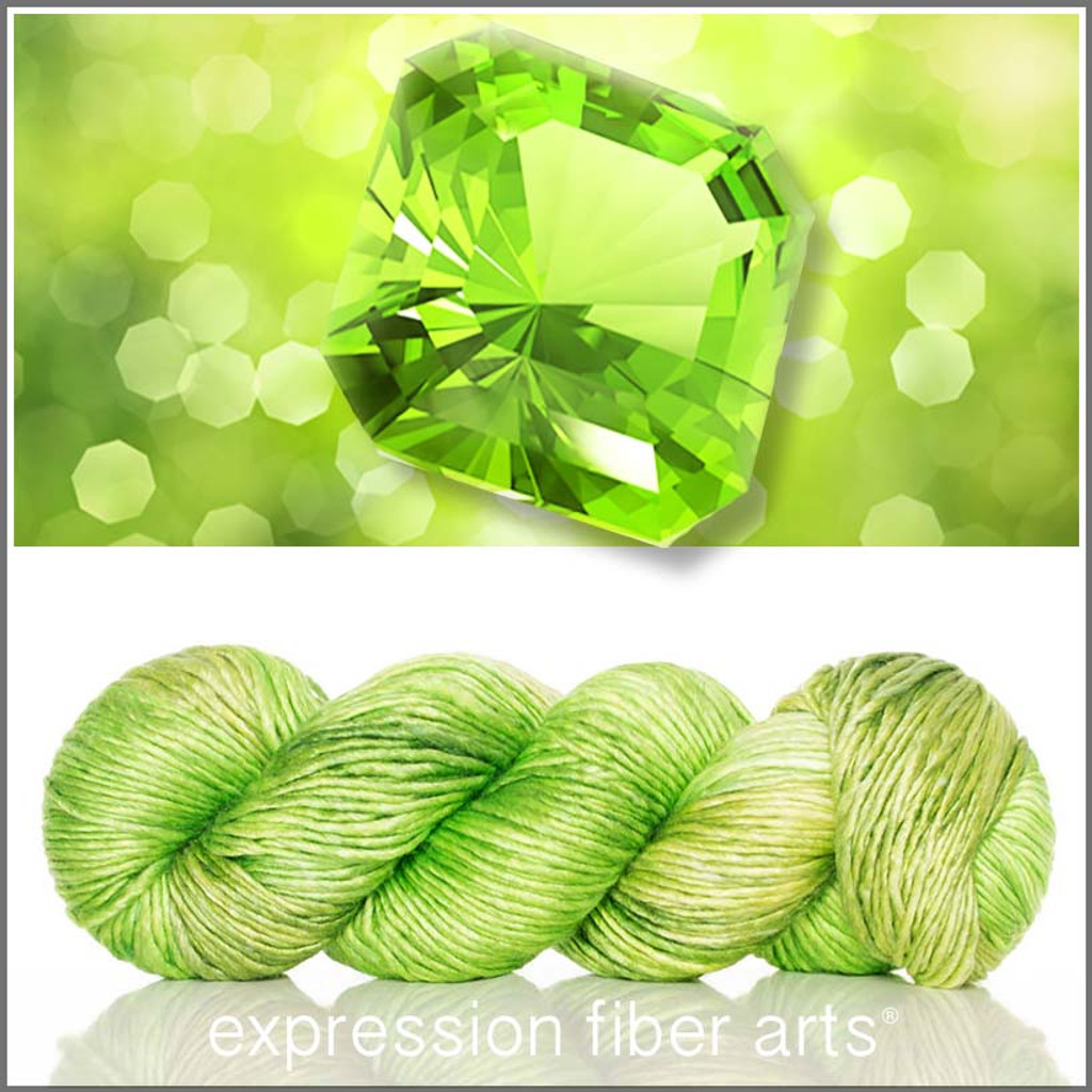 AUGUST PERIDOT SUPERWASH MERINO SILK PEARLESCENT WORSTED