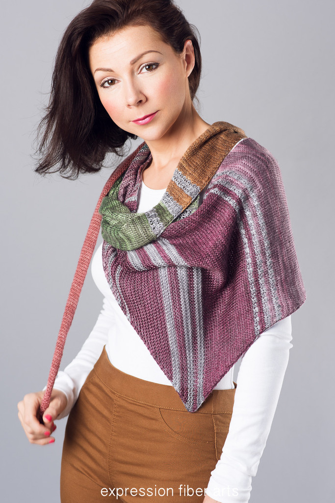 Star Train Knitted Shawl Pattern