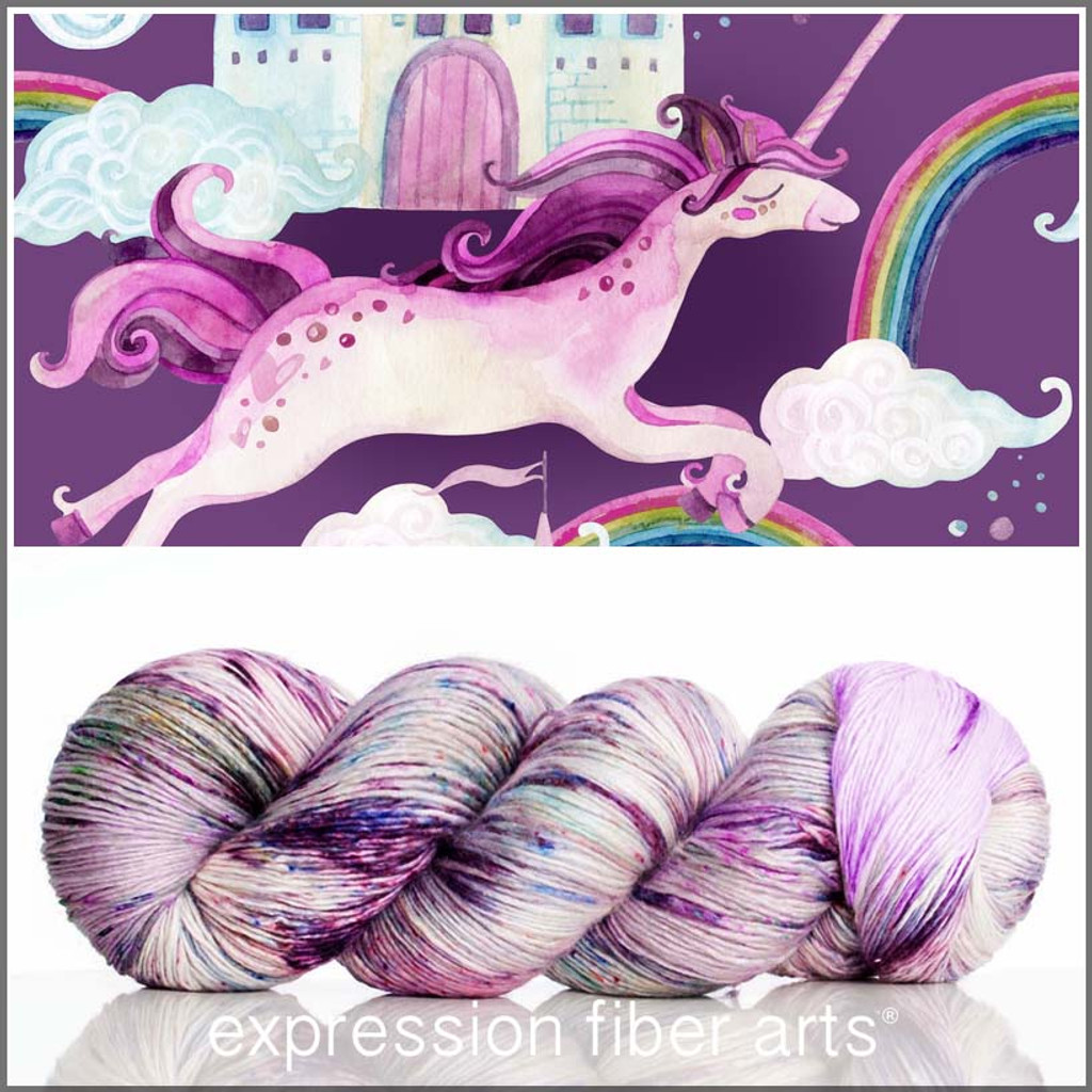 UNICORN CASTLE PEARLESCENT FINGERING for PoP Charity